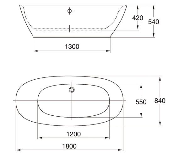 Technical drawing QS-V84219 / 74001-1800A