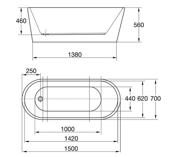 Technical drawing QS-V84220 / 74001-1500A