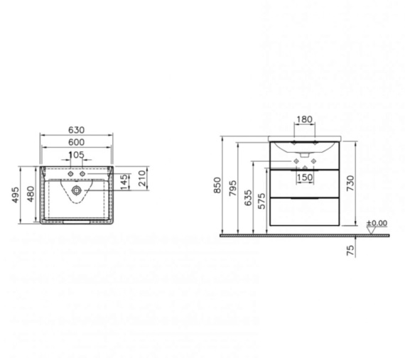 Technical drawing QS-V81863 / 60024