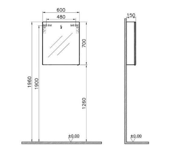 Technical drawing QS-V81872 / 58280