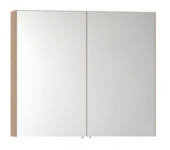 Vitra S50 Classic 800mm Oak Double Door Mirror Cabinet
