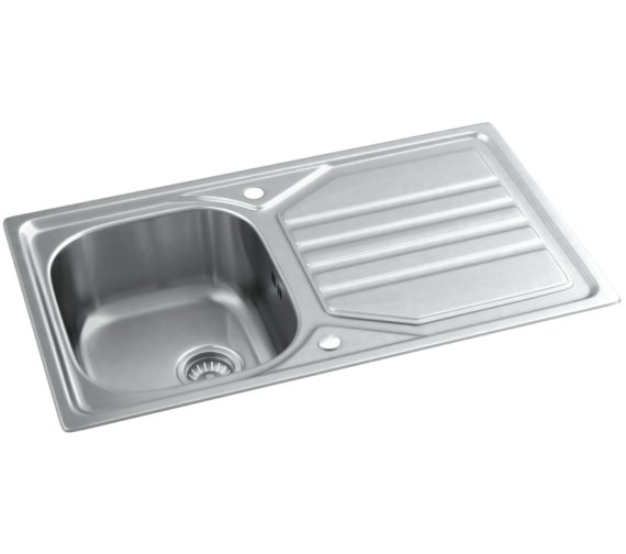 ... sink abode mikro stainless steel 1 0 bowl kitchen sink with drainer