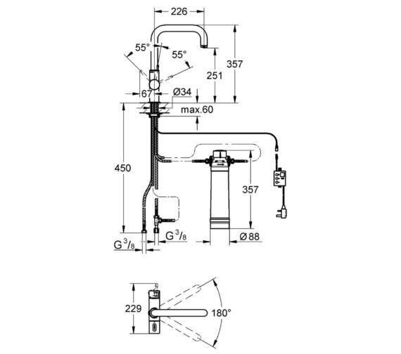Technical drawing QS-V6840 / 31338001
