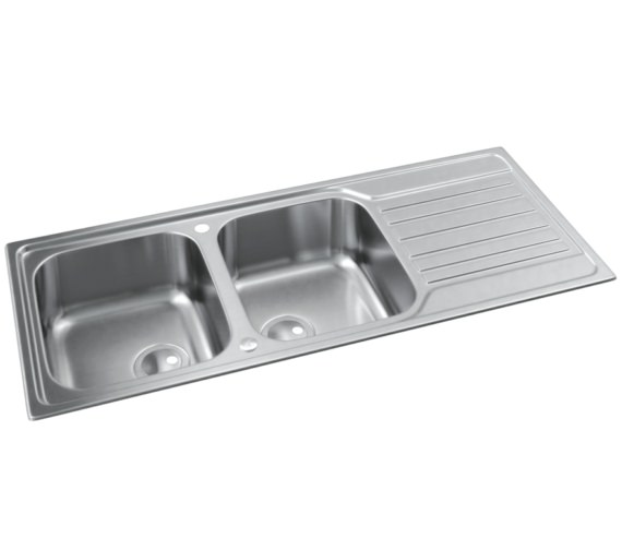 Abode Connekt Stainless Steel 2.0 Bowl Kitchen Sink With Drainer