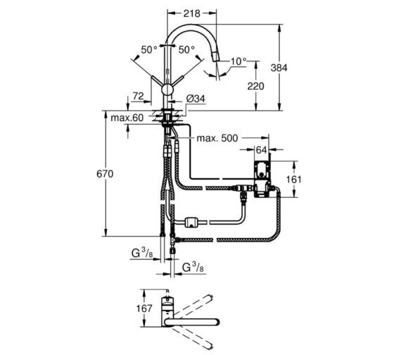 Technical drawing QS-V6855 / 31358DC0