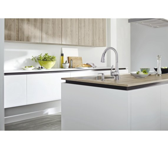 Additional image of Grohe Zedra Kitchen Sink Mixer Tap Stainless Steel