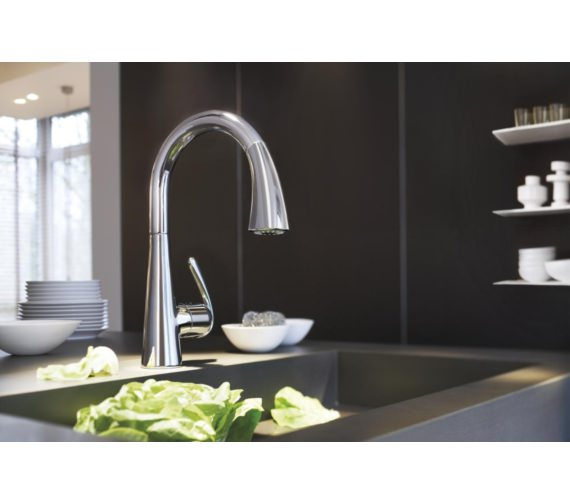 Grohe Zedra Kitchen Sink Mixer Tap Chrome