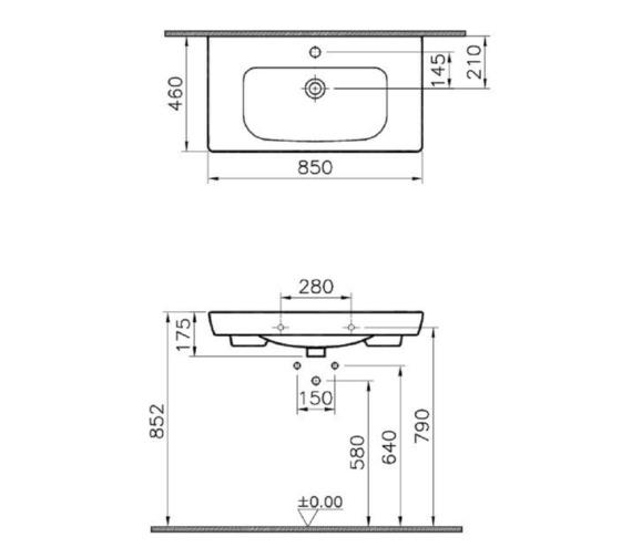 Technical drawing QS-V81880 / 5523B003-0001