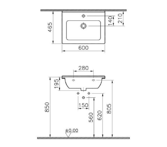Technical drawing QS-V81881 / 5407B003-0001