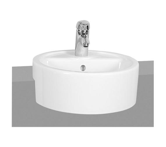 Vitra Matrix 450mm Semi Recessed Basin 1 Tap Hole