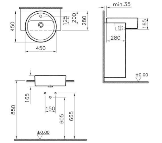 Technical drawing QS-V81883 / 5146B003-0001