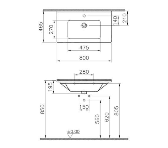 Technical drawing QS-V81882 / 5408B003-0001