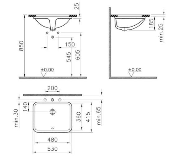 Technical drawing QS-V81884 / 5339B003-0012