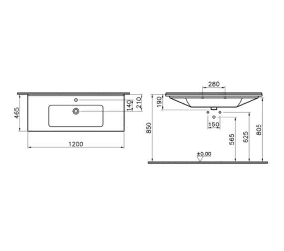 Technical drawing QS-V81886 / 5480B003-0001