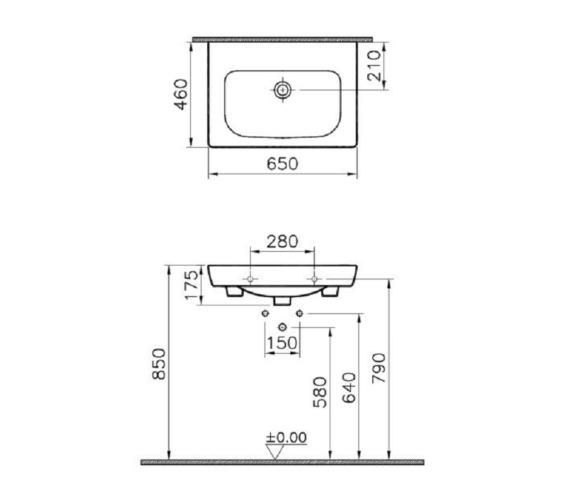 Technical drawing QS-V81879 / 5522B003-0001