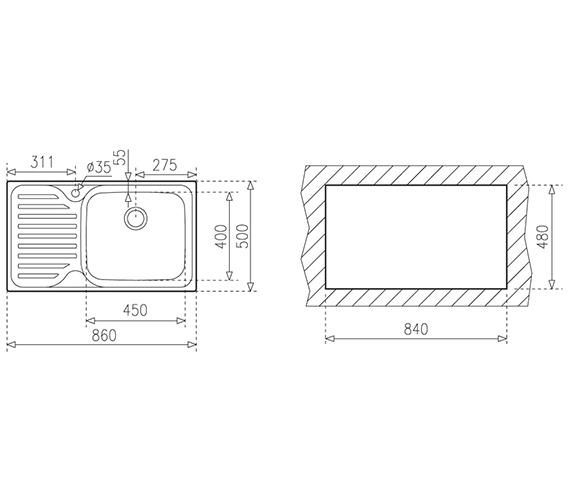 Technical drawing QS-V84242 / CTK1038