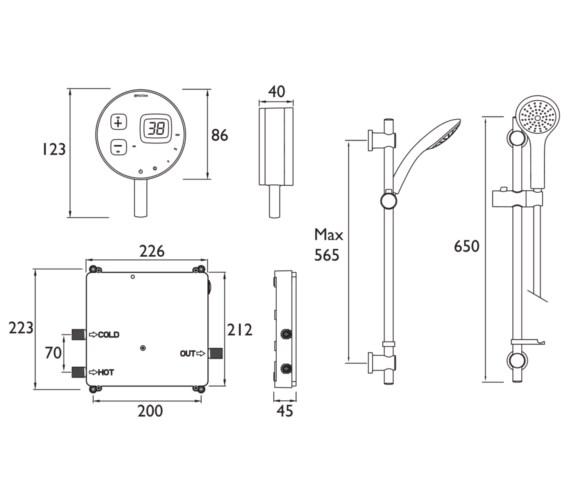 Technical drawing QS-V6876 / ARDE SHCAR W