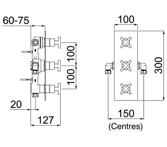 Technical drawing QS-V6911 / CAS SHC3STP C