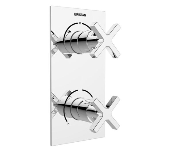 Bristan Cascade Two Control Thermostatic Shower Valve - Two Outlet Diverter