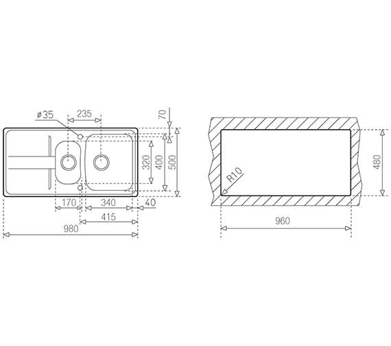 Technical drawing QS-V84239 / CTK1086