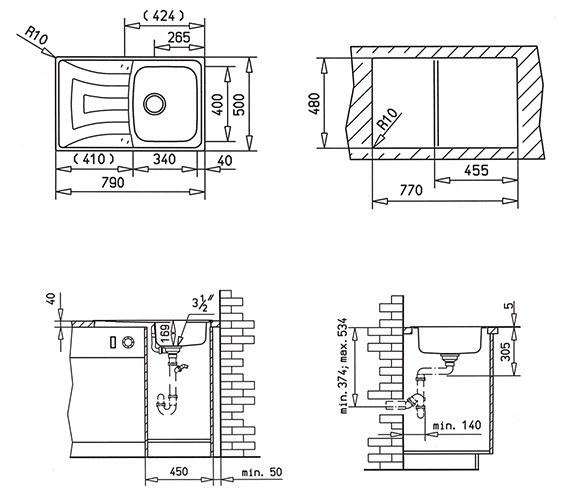 Technical drawing QS-V84250 / CTK1054BOX