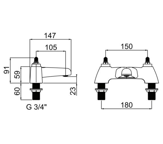 Technical drawing QS-V6917 / CHC BF C