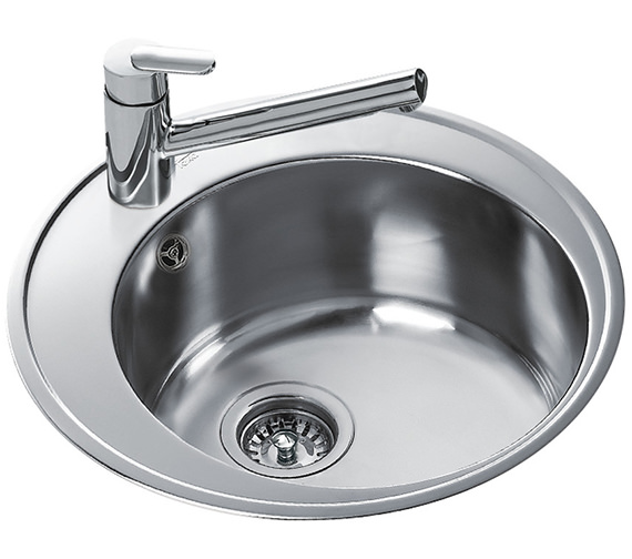 Additional image of Teka Centroval 45 Stainless Steel 1.0 Bowl Round Inset Sink