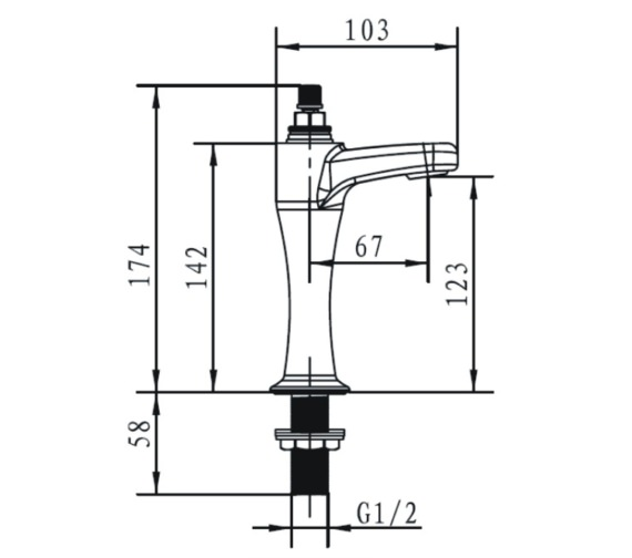 Technical drawing QS-V14284 / CHC HNK C