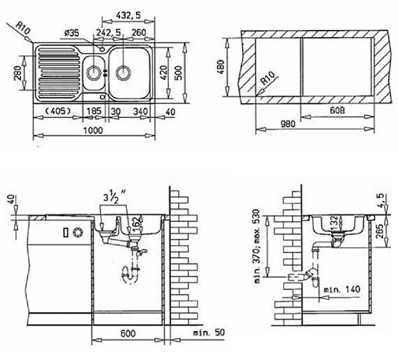 Technical drawing QS-V84253 / CTK1050BOX