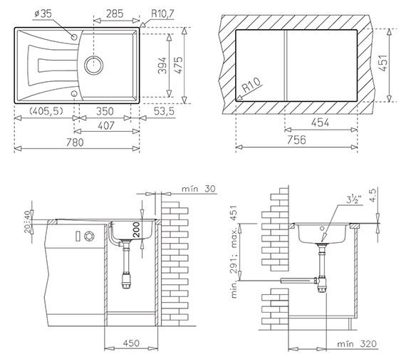 Technical drawing QS-V84254 / CTK1070