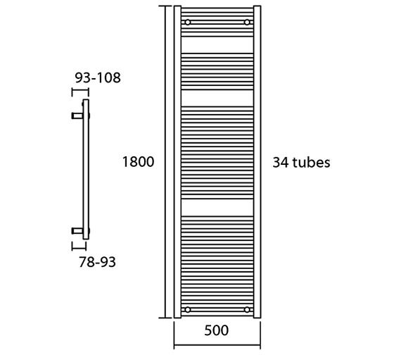 Additional image for QS-V13618 DQ Radiators - Elec-Nemo 50/80