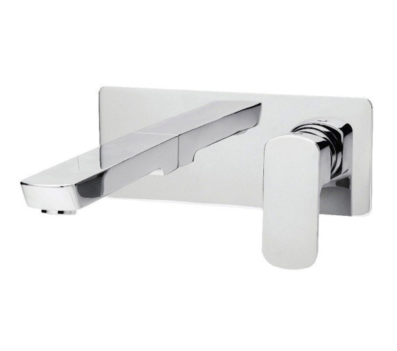 Tre Mercati Vamp 2 Hole Wall Mounted Basin Mixer Tap Chrome - 43095