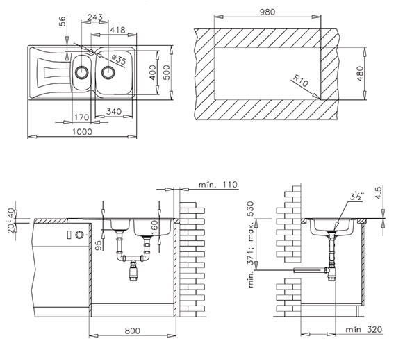 Technical drawing QS-V84252 / CTK1058BOX