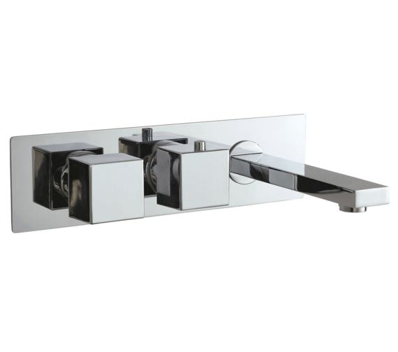 Phoenix SQ Series Concealed Single Function Twin Valve With Bath Spout