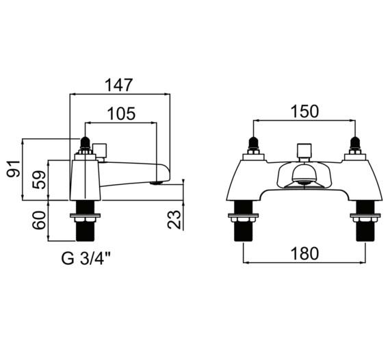 Technical drawing QS-V6918 / CHC BSM C