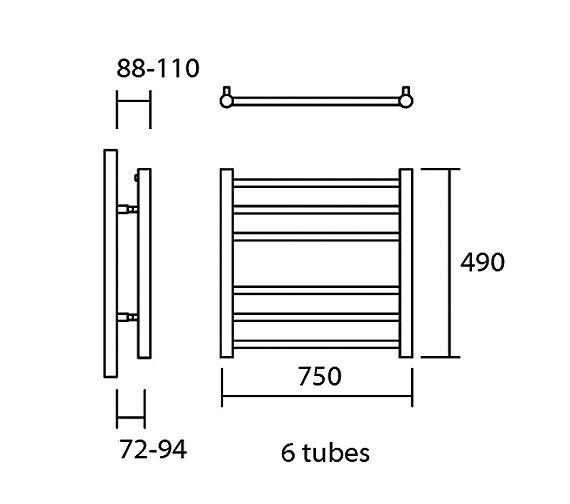 Technical drawing QS-V13623 / Elec-Siena 75/49