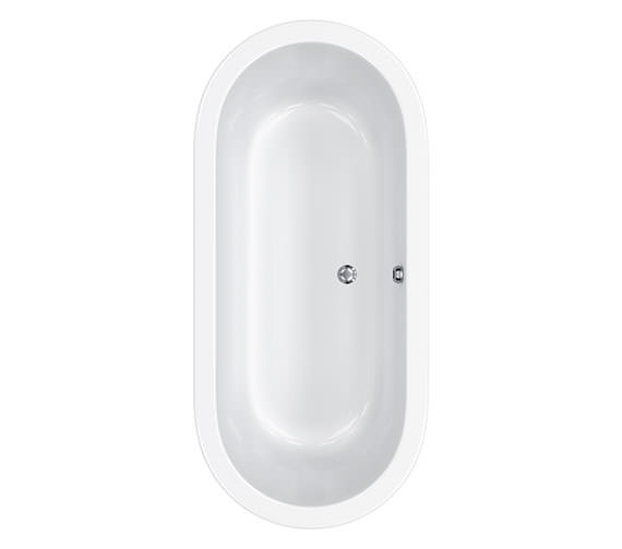 Carron Halcyon Oval Inset Double Ended Bath 1750 x800mm - CABHL17580PA