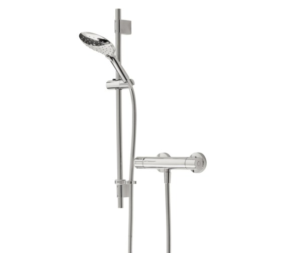 Bristan Claret Thermostatic Exposed Bar Valve With Adjustable Riser Kit