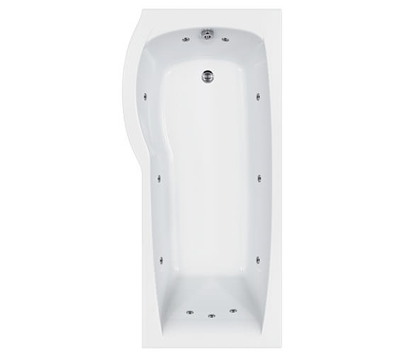 Carron Delta 11 Jets Whirlpool Shower Bath 1700 x 800mm