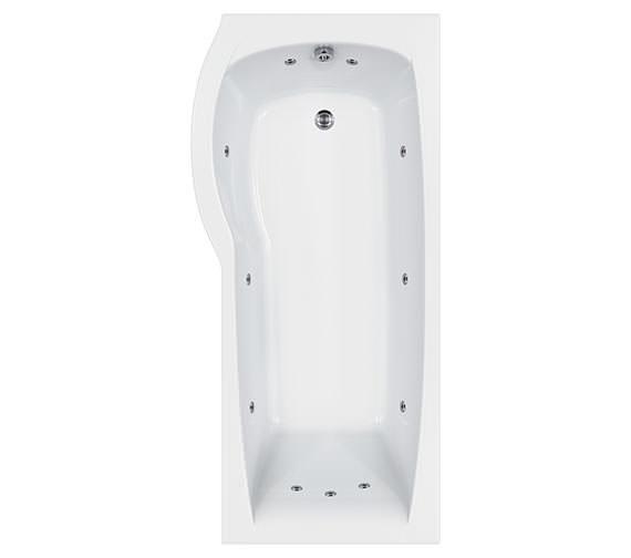 Carron Delta 11 Jets Whirlpool Shower Bath 1700 x 800mm