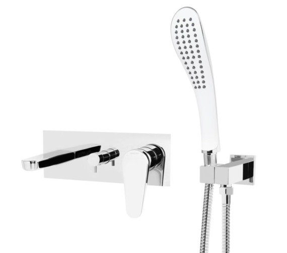 Bristan Claret Wall Mounted Bath Shower Mixer Tap Chrome