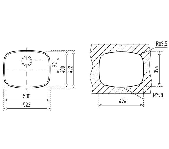 Technical drawing QS-V84260 / CTK2012