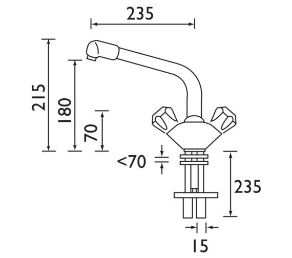 Technical drawing QS-V6930 / CM SNK EF C