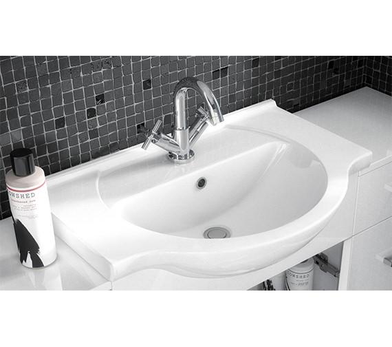 Additional image of Lauren 2 Door 650mm Bathroom Vanity Unit With Back To Wall WC Unit
