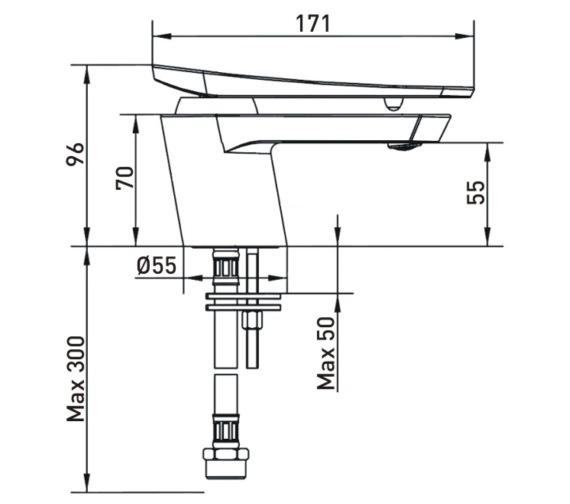 Technical drawing QS-V17455 / CLR BASNW C