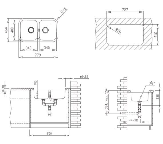 Technical drawing QS-V84265 / CTK2026