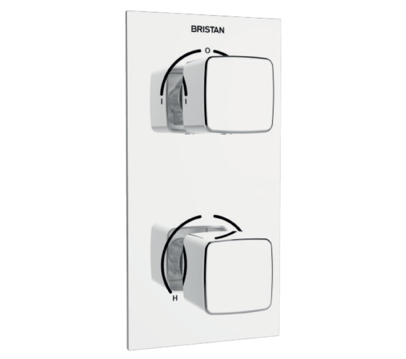 Bristan Cobalt Thermostatic Dual Control Shower Valve With Two Diverter