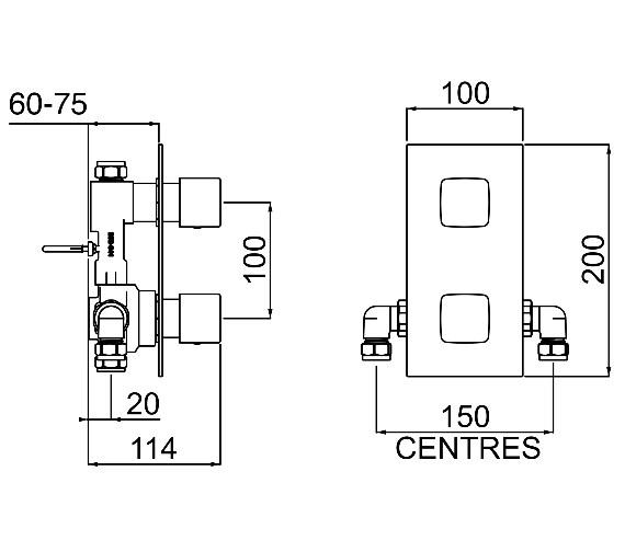 Technical drawing QS-V6935 / COB SHCVO C
