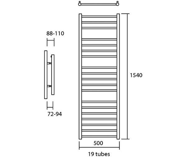 Technical drawing QS-V13630 / Elec-Siena 50/160