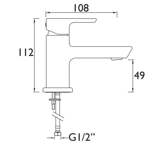 Technical drawing QS-V6936 / COB SMBAS C